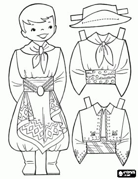 argentina boy paper doll online coloring but you can print outline instead homeschool. Black Bedroom Furniture Sets. Home Design Ideas