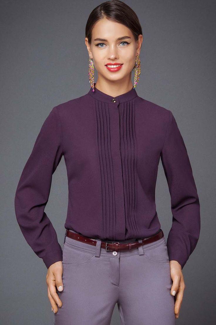 Р-1242-418 Блуза Леди Леди Изящная блуза классического стиля - одна из | Женские блузки, рубашки