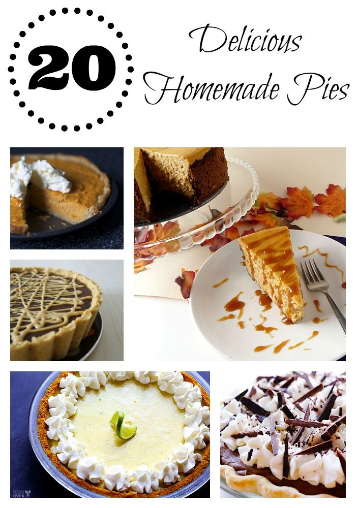 20 delicious homemade pies on iheartnaptime.com #pie #recipes #thanksgiving