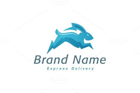 For sale. Only $29 - animal, energy, fast, speed, delivery, power, flash, run, inspiration, jump, electricity, creativity, lightning, storm, bunny, rabbit, bolt, thunder, mobility, sacred, rapid, spark, movement, transportation, travel, pet, quick, swift, haste, blue, wild, logo, design, template,