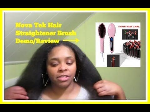 Noza Tec Hair Straightner Brush - Demo & Review on Natural (Type 4) Hair