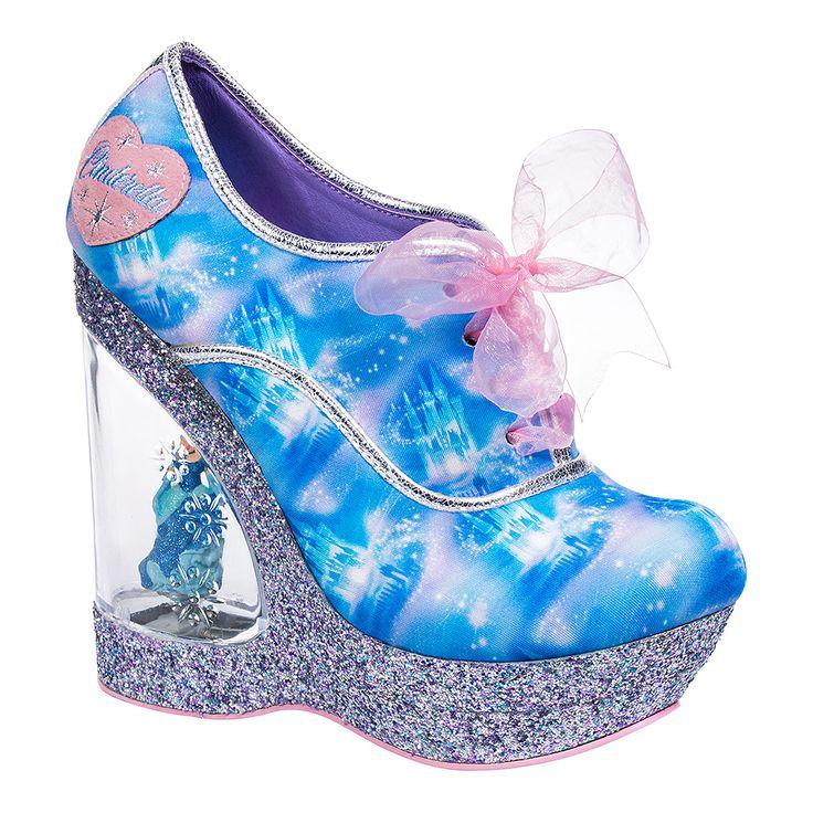 Irregular Choice Call Me Cinders Wedge Heel Shoes (Blue)