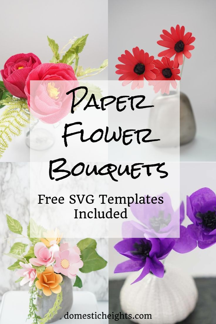 Paper Flower Bouquets Paper Flowers Paper Flower Tutorial