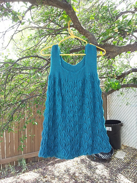 "Ravelry: MandaBearPig's ""Knitted lace tunic top"""