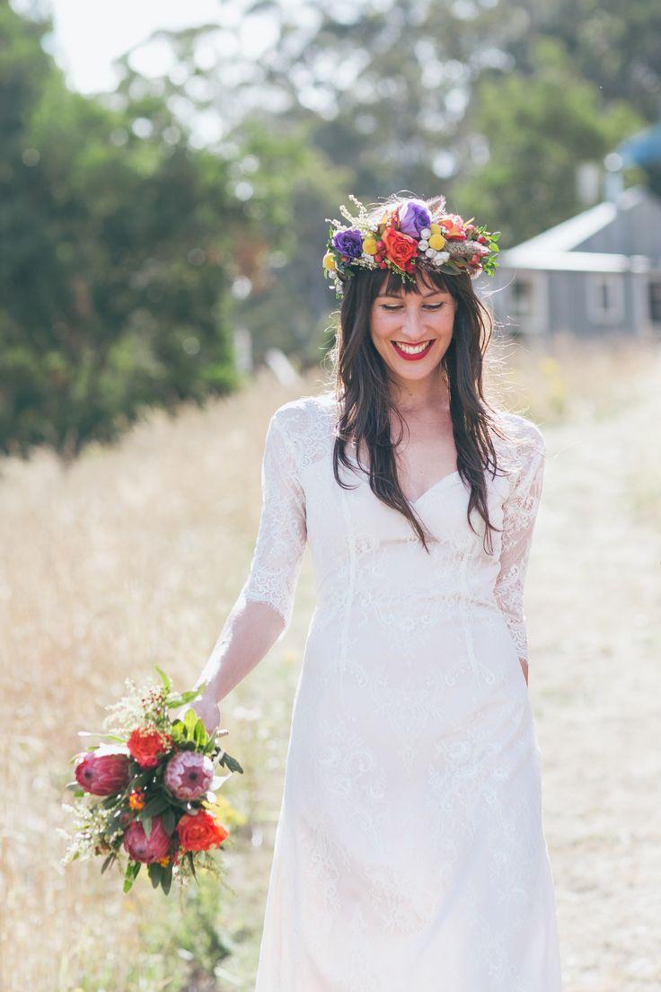Anna. Australian farm wedding. Pretty Flamingo Photography. #prettyflamingobride #flowercrown
