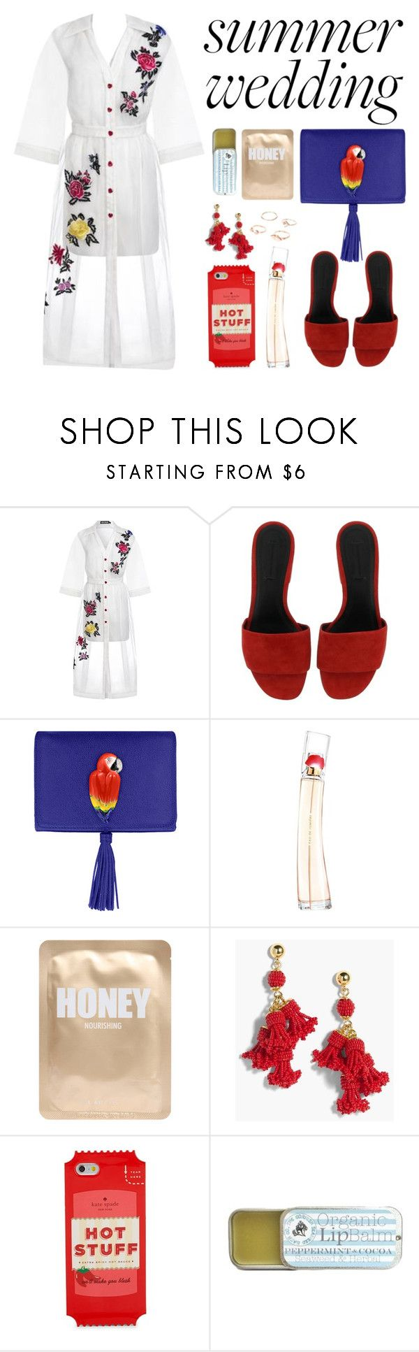 """""""#summerwedding"""" by faye-valentine ❤ liked on Polyvore featuring House of Holland, Alexander Wang, Nach Bijoux, Kenzo, Lapcos, J.Crew and Kate Spade"""
