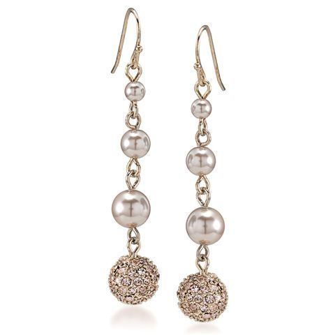 I really love these.........Carolee - Rose Coloured Glow Linear Drop Earrings