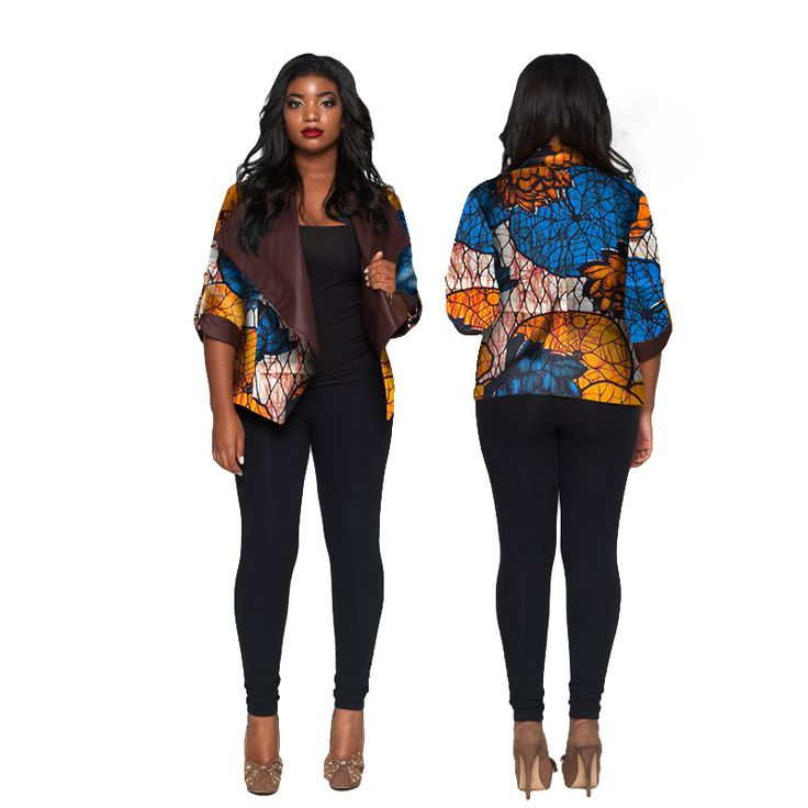 >> Click to Buy << BRW African Wax Print Clothes for Women Coat Jacket Bazin Riche African Full Sleeve Shawl Collar Cotton Jacket 6XL WY974 #Affiliate