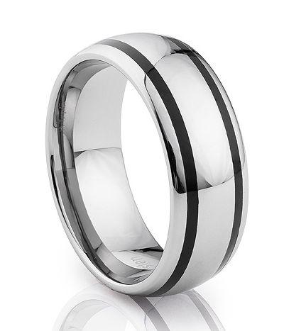 TUR 515 - 8mm Men's Tungsten Carbide Wedding Ring