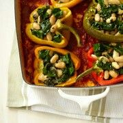 & delish vegetarian stuffed peppers serve with pasta or brown rice ...