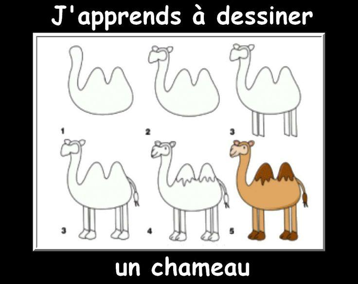 Des fiches j 39 apprends dessiner les animaux projets - Dessiner un chameau ...