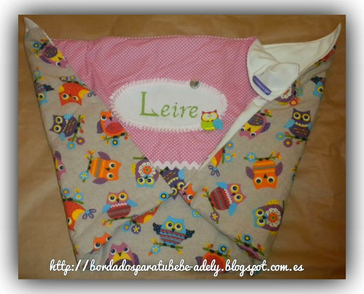 Bordados para bebe, punto de cruz y fieltro-Regalos para bebes.: Manta de paseo de carro personalizado. Regalo orig...