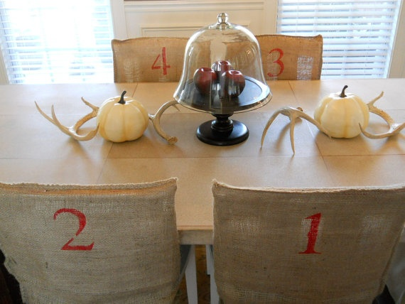 Items Similar To Burlap Dining Chair Covers On Etsy