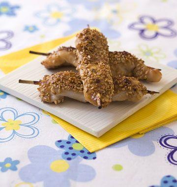 Brochettes de poulet mariné au soja et sésame - Ôdélices : Recettes de cuisine faciles et originales !