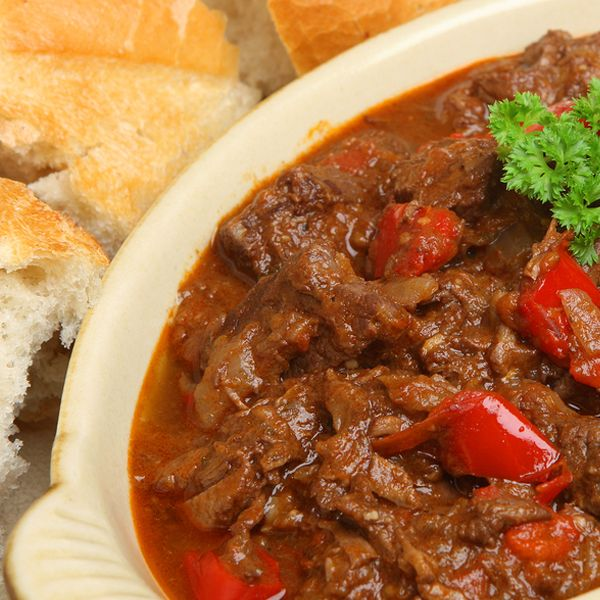 Serve this hearty full flavored Hungarian Goulash recipe with egg noodles. Hungarian Goulash Beef Stew Recipe from Grandmothers Kitchen.