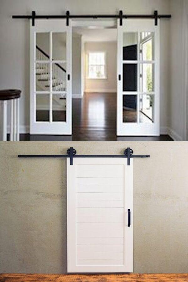 White Barn Door Barn Door Cost Sliders For Barn Doors In 2020 Shaker Style Interior Doors Interior Sliding Barn Doors Doors Interior