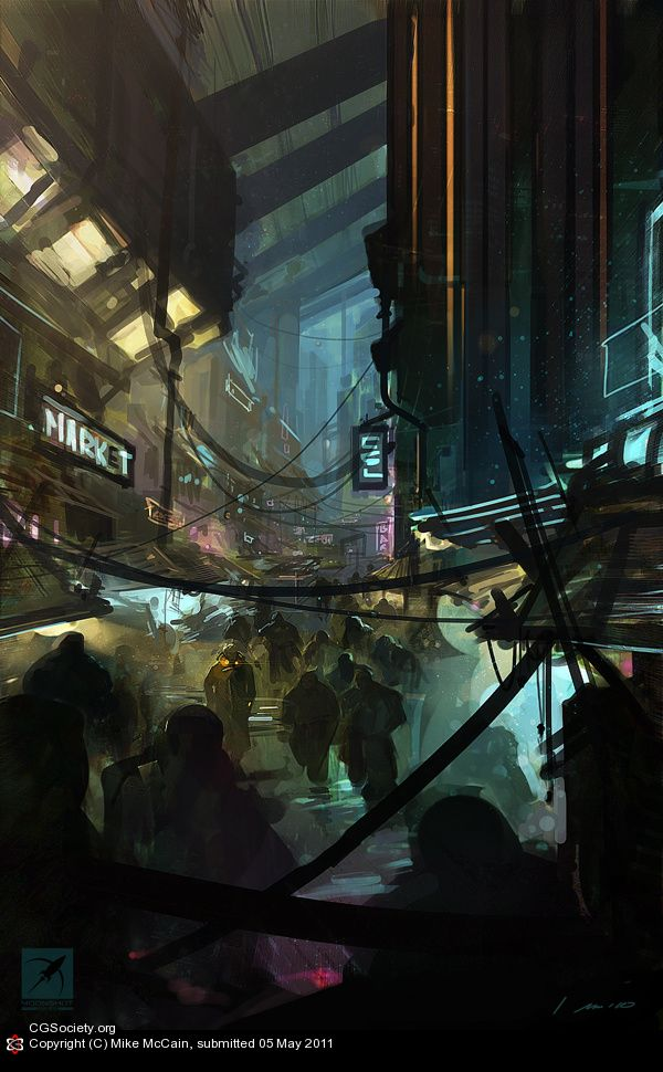 City Streets by Mike McCain | 2D | CGSociety
