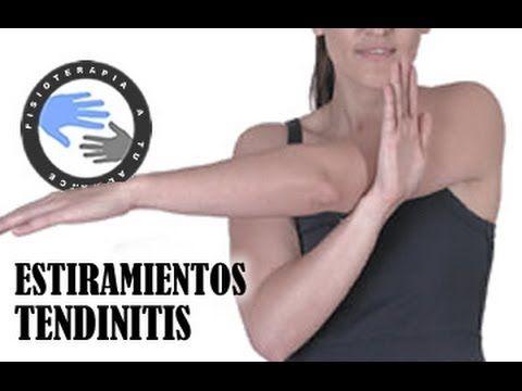 Tendinitis, estiramientos para aliviar el dolor de hombro / Fisioterap...