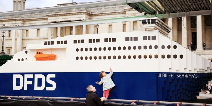A world record breaking model ship has completed a three-stop UK tour to celebrate the 150th anniversary of ferry and shipping operator DFDS.