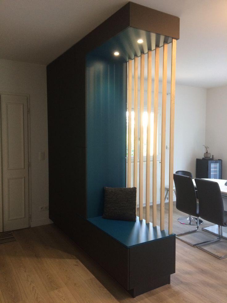s paration entr e escaliers s jour decoentreemaison. Black Bedroom Furniture Sets. Home Design Ideas