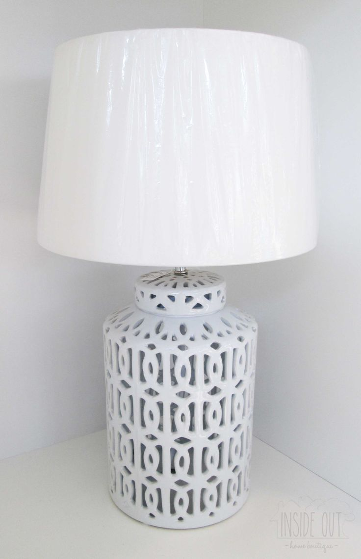 White Ceramic Lamp Base - Inside Out Home Boutique