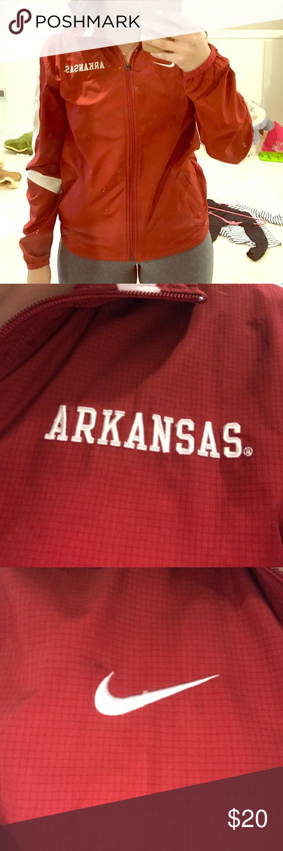 Jacket Full zip waterproof jacket. Arkansas razorbacks Nike Jackets & Coats