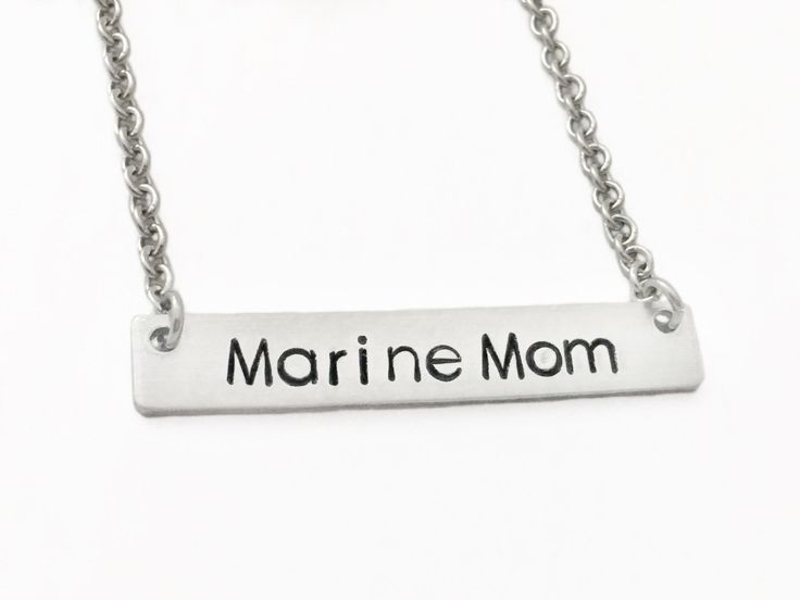 Marine Wife Necklace, Proud Marine Wife, Marine Girlfriend Necklace, Marine Mom Necklace, Marine Mom Jewelry,Military Wife Gift,Gift for Her by CharmedMetals on Etsy