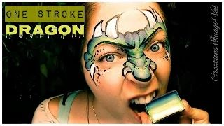 dragon face painting tutorial - YouTube