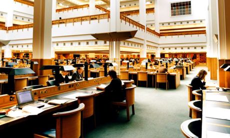 The reading room in the British Library. Incredible place to do research.