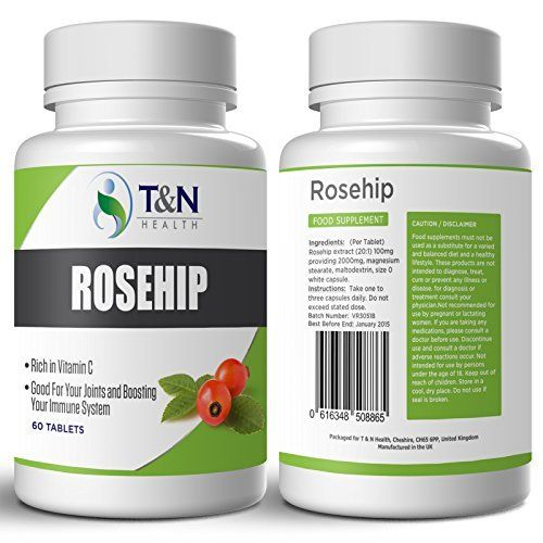 Rosehip Tablets for Arthritis - Rich in Vitamin C - Herbal Medication with Anti-inflammatory Properties Effective in Relieving Some Symptoms Associated with Rheumatoid Arthritis and Osteoarthritis - 60 Rosehip Capsules (1 Months Supply) - Good For Your Joints. Rosehip Benefits Are Also Great For Increased Energy and Motivation, Boosting Your Immunity and General Wellbeing., http://www.amazon.co.uk/dp/B00MJYGN3S/ref=cm_sw_r_pi_awdl_kQD7tb0C7G4Y0