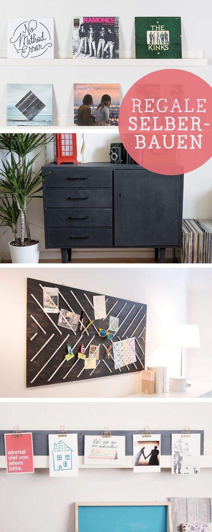 Die besten DIY-Ideen für Regale, Wohnung selbermachen / diy living tutorials for shelves, home decor via DaWanda.com
