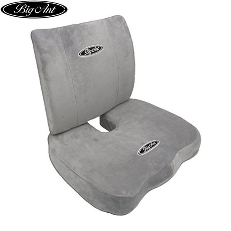 Buy US $49.99  Big Ant Orthopedic Memory Foam Seat Cushion and Lumbar Support Pillow for Office Chair and Car Seat with Washable Cover Set of 2