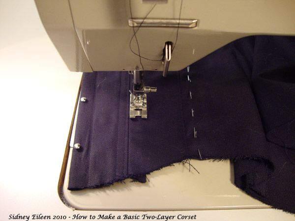 how to make a basic two layer coutil corset by sidney eileen