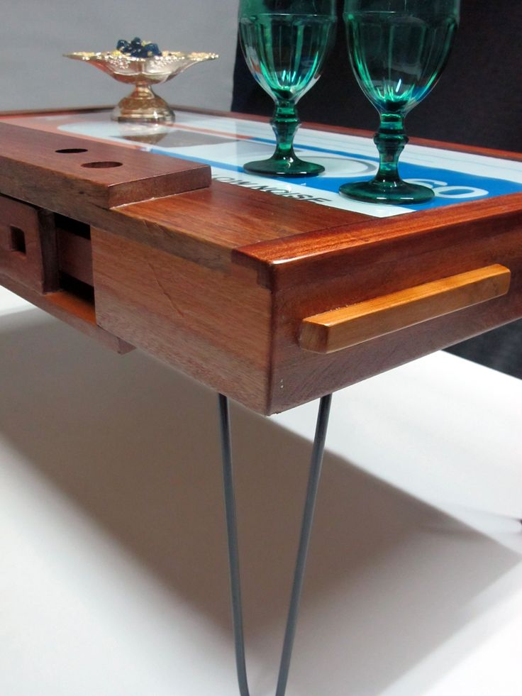 Cassette Tape, Pine, Coffee, Table