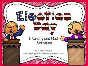 *UPDATED FOR THE 2016 ELECTION*Election Day is right around the corner!  These activities will keep your little voters engaged and motivated!Included is the packet are:What Makes a Good President and If I Were President - Writing ActivitiesPresidential Election Vocabulary CardsCompare/Contrast Teacher to President Venn Diagram (whole class anchor chart and individual recording sheet)The President (can/have/is)Voter Registration CardsDuck for President and My Teacher for President Activity…