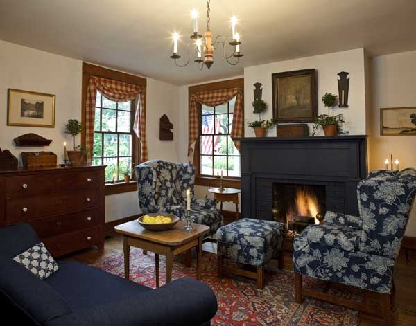 Early American Inspired Living Room Colonial Style