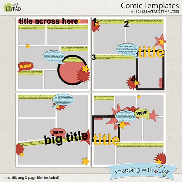Best Comic Book Style Scrapbooking Images On   Comic