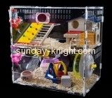 Plexiglass manufacturer custom acrylic large bird hamster cage for sale PCK-060
