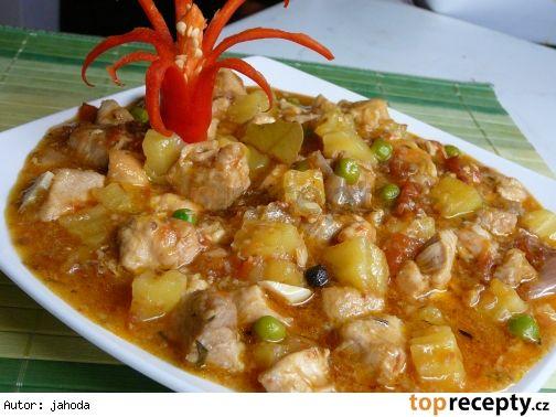 Kuřecí s vepřovým po filipínsku