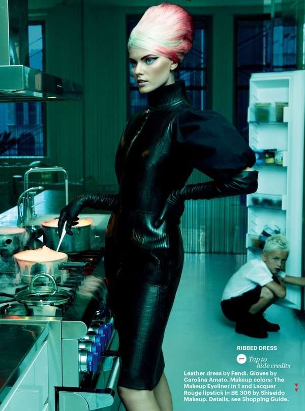 Edgy Homemaker Editorials - Allure Magazine October 2012 Features an Eccentric Housewife (GALLERY)