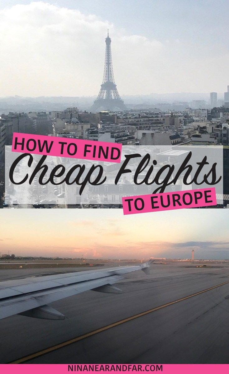 Tips and tricks for finding a cheap flight for your next European adventure!