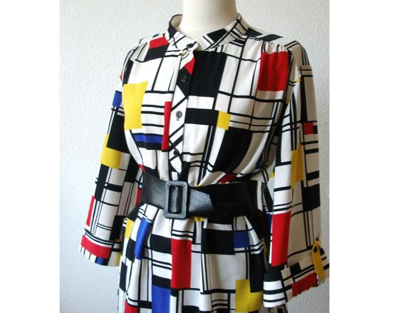 Mondrian? yes please~: Over Shirts, New Years Dresses, Dresses Vintage, Piet Mondrian, Plea