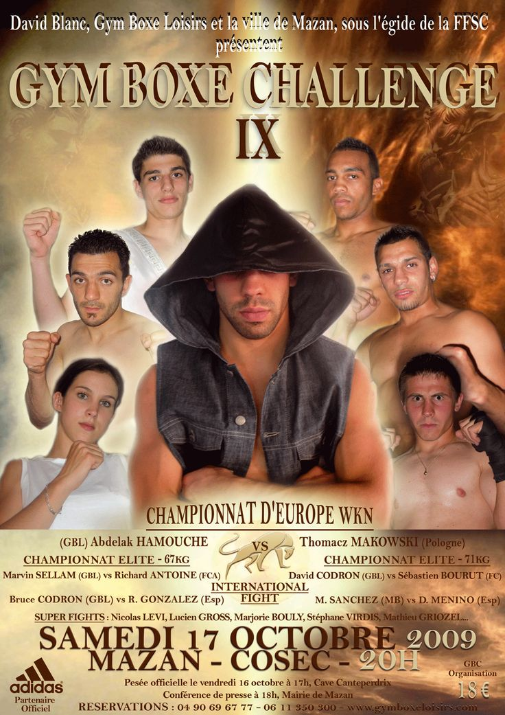 #GymBoxeChallenge IX Fullcontact 2009 Championnat d'Europe #WKN Mazan