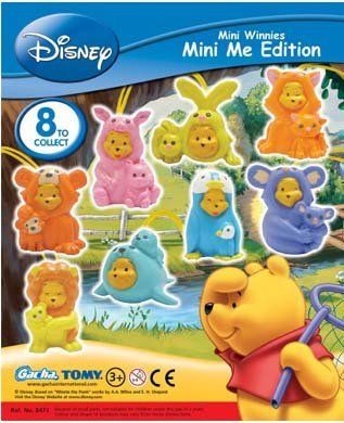 Tomy Winnie the Pooh Peek a Pooh Mini Me Edition Figures Set of 8 by Tomy. $7.68. detachable gacha wacky wobble. tomy peek a pooh disney collectables attaché. mario nintendo psp playstation figures figurines. this toy is brand new very rare set