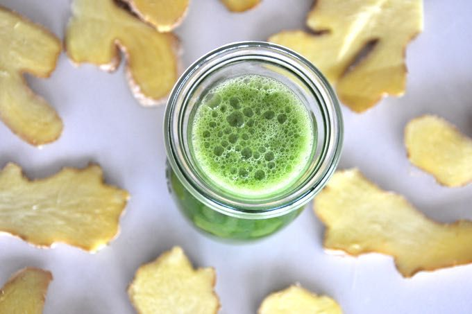 jak zrobić zielony sok z imbirem