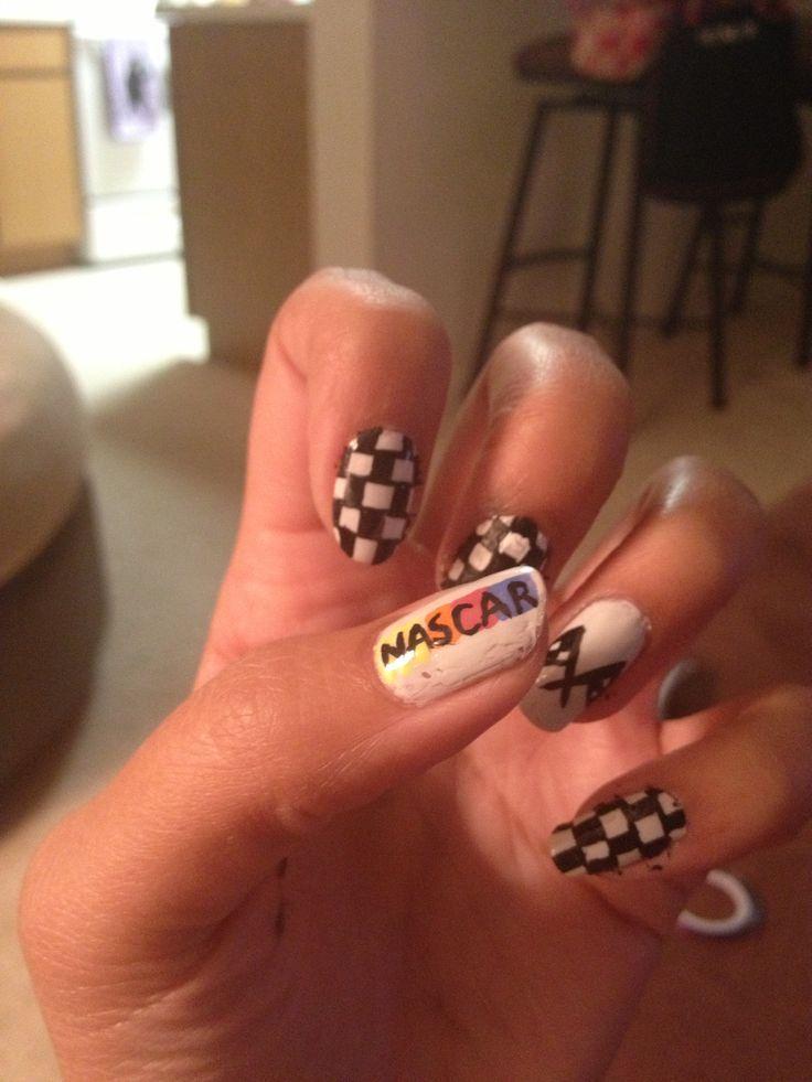 NASCAR Nails via NASCAR's Pinterest - 27 Best Nascar Nails Images On Pinterest DIY, Camo Wedding And