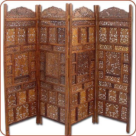 Moroccan and Indian Furniture, Moroccan room divider, Moroccan screen, Chinnar Room Divider.   Berbertrading.com $299.00. Item FF0239