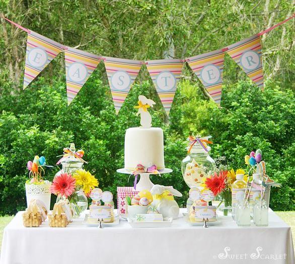 Easter dessert table