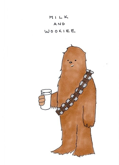 Milk and Wookie @ http://23-drawings.tumblr.com/