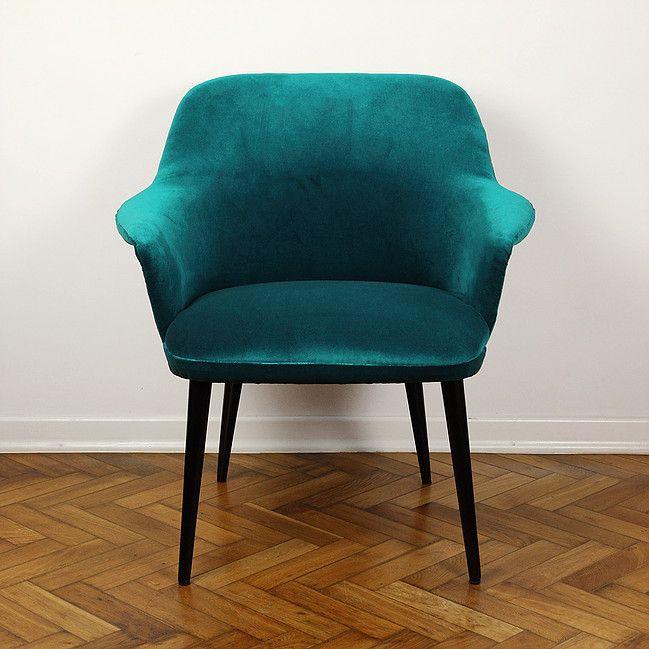 muszelka - polski fotel vintage